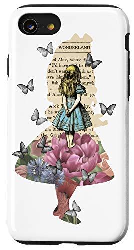 iPhone SE (2020) / 7 / 8 Alice In Wonderland Magical Garden - Vintage Book Case