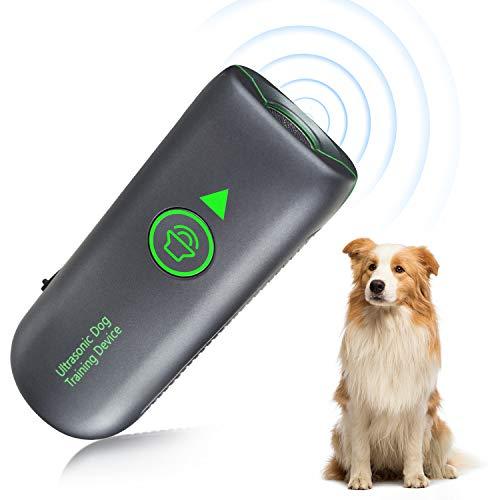 Queenmew Repeller per Cani ad Ultrasuoni Portatile,Controller Sonic Bark,Dispositivo di Abbaio Ricaricabile per Cani Stop,Deterrente per Il Controllo del Comportamento Scorretto per Cani