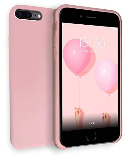 MyGadget Soft Touch Case per Apple iPhone 7 Plus / 8 Plus - Custodia Rigida – Cover Silicone Morbido Resistente - Cassa Protettiva Antiurto - Rosa