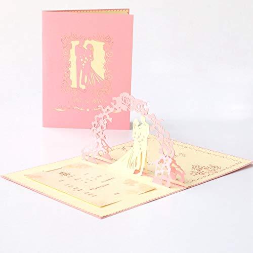 3 Piezas Tarjetas De Invitaciones De Boda Tarjeta De Felicitación De Mariage 3D Pop Up Invitación Personalizada Tarjeta De Regalo De Agradecimiento Con Sobre