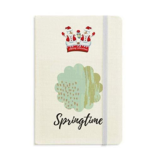 Matcha - Cuaderno con diseño de flores abstractas, diseño de muñeco de nieve navideño, tapa dura