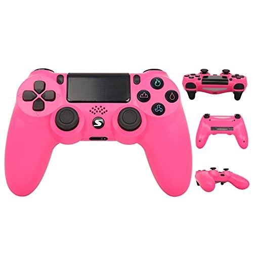 Wireless Controller, USB Controller für PC PS4 Slim/PS4 Pro, Bluetooth Remote Joypad Gamepad, schnelle Reaktionsgschwindigkeit - Gummierung für sicheren Grip