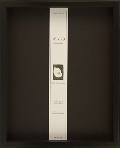Frame USA Shadow Box Showcase Series 16x20 Wood Frames (Black)