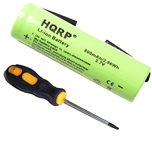 HQRP Battery works with Philips Norelco 3.7V Li-Ion 422203612390 3611290 3606410 1050CC 1050X 1059X 8260XL 1280X 1280XCC 1250X 1250XCC 1260X 1290X QT4070 Razor/Shaver + Screwdriver