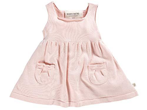 Bio Baby und Kinder Strickkleid 100% Bio-Baumwolle (kbA) GOTS zertifiziert, Rosé Melange, 62/68