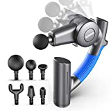 RENPHO R4 Pro Massage Gun with Adjustable Arm, Deep Tissue Percussion Muscle Massager Handheld, Portable Body Massager for Athletes Sore Muscle and Stiffness Back Pain Relief
