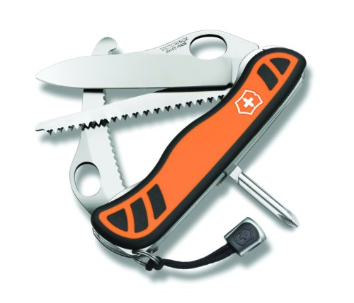 Victorinox Swiss Army Hunter XT Knife with Pouch, Orange, 111mm