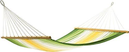 Jobek 017184 hangmat Aruba geel/groen/ecru 300 x 140 cm