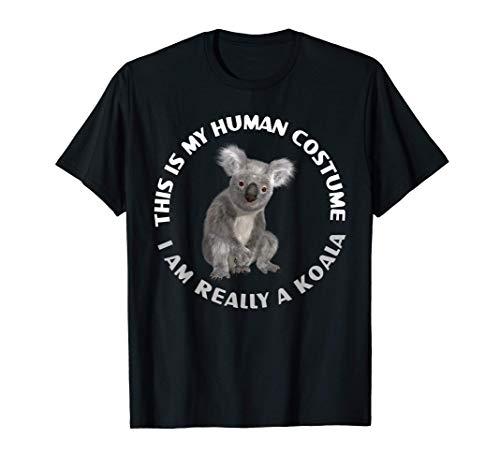 Lustige Koalabär Kostüm Nette Tierliebhaber Halloween T-Shirt