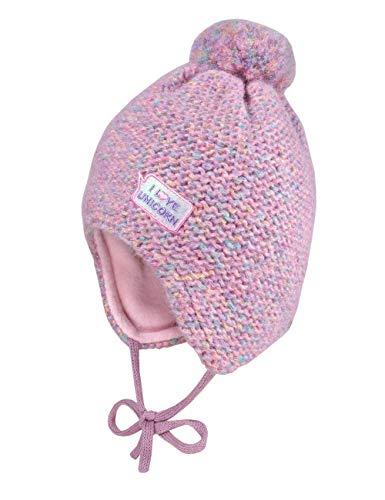 maximo Mädchen Band Beanie-Mütze, pinkmeliert, 49