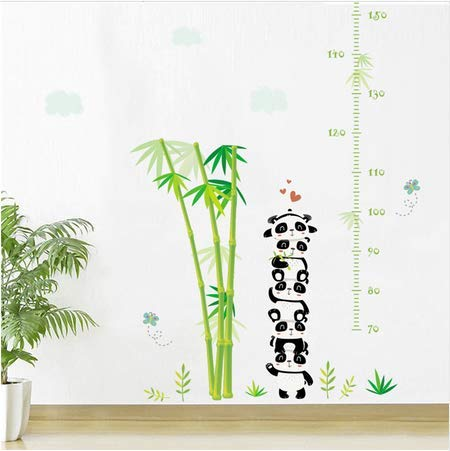 Newberli Zoo Wald Tiere Bambus Höhe Maßnahme Wachstum Chart Wandaufkleber Für Kinderzimmer Wandtattoos Poster Kunst Wandbild