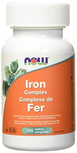 NOW Iron Complex 100 Veg Capsules, 100 g