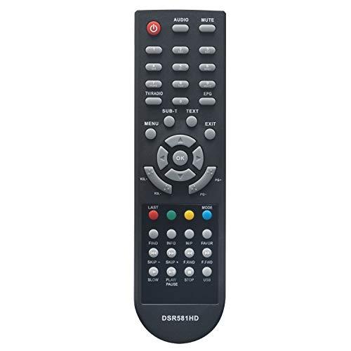 VINABTY DSR581HD Ersatz Fernbedienung passend für Schwaiger DSR 581HD PVR DSR581HDPVR HDTV Digital Satelliten Receiver
