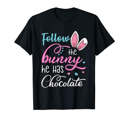 Simpatico coniglio pasquale coniglietto orecchie cioccolato regalo Maglietta