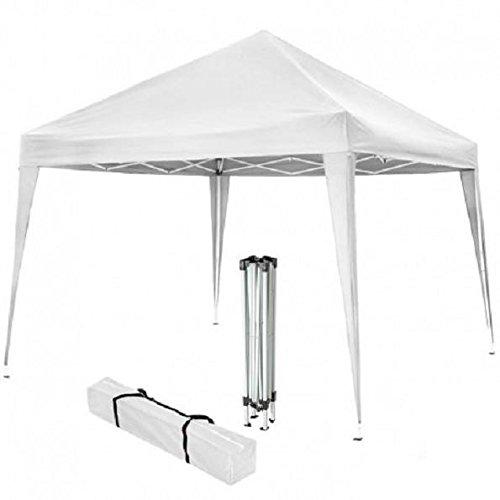 Gazebo in Acciaio Bianco 3x2 MT 2,6h - RICHIUDIBILE A Ombrello Fisarmonica + Sacca