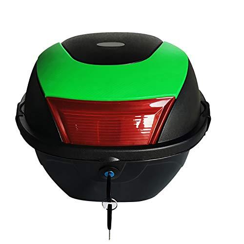 Baúles para Moto Caja de Transporte Universal para Motocicleta, Caja Trasera, Maletero, Equipaje, Bloqueo Superior, Caja de Transporte, 37x33x26cm