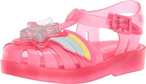 Mini Melissa Girls Mini Possession Ii (Toddler) Fisherman Sandal, Pink Happy, 6