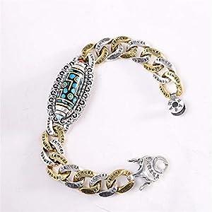 HHW S925 Herrenmode Sterling Silber Armband Thai Silber Sechs Zeichen Mantra Dzi Armband Schmuck Geschenk