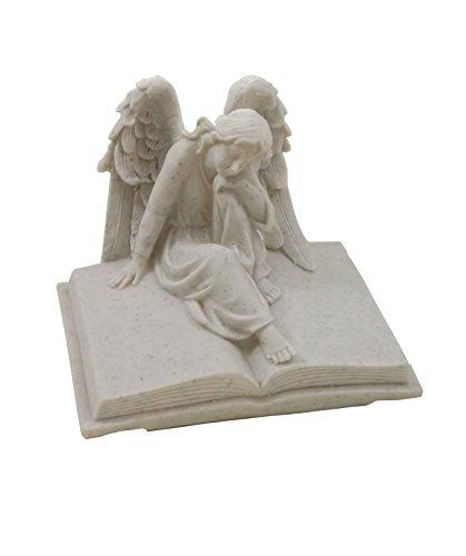 Klp Grabschmuck Engel auf Buch Gedenkstein Grabstein Grabdeko Grab Deko Figur