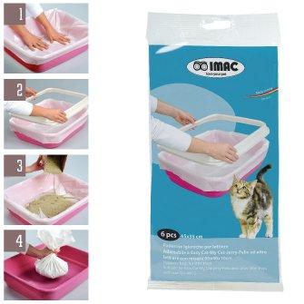 Sacs hygiéniques pour litière CLEAN UP-Taille 45 x 35 cm conf. 6 pièces