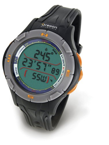 Oregon Scientific Outdoor Uhr mit digitalem Kompass RA 126, antrahzit