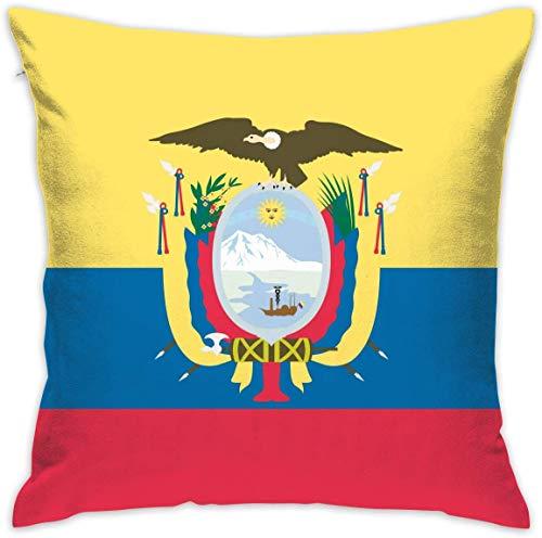 By Funda de almohada cuadrada con bandera de Colombia, funda de cojín de terciopelo suave con cremallera oculta para sofá, sala de estar, decoración del hogar (45,7 x 45,7 cm)