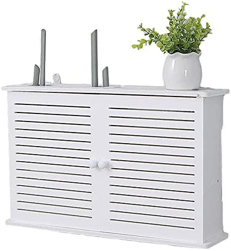 YXZN Router Shelf Router de Estante de Almacenamiento Caja Decorativa de Enrutador para Colgar en la Pared Caja de Administración de Cables Estante de Pared