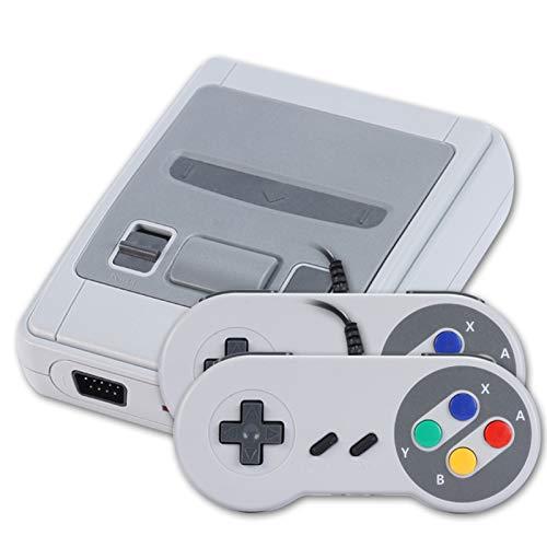 YONGQING HDMI Retro Game Console, TV Classic Handheld-Videospiel Joystick mit Zwei Kabeln, integrierte 621-Spiele-Unterstützung für Super Nintendo + 2-Controller (EU)