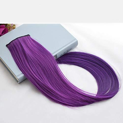 Perücke Haarfarbe Film weiblich keine Spur Highlights Haarfarbe Farbverlauf, dunkelviolett