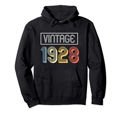 Maglietta 92° compleanno   Vintage 1928 Felpa con Cappuccio