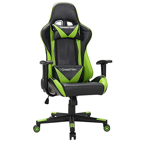 High Back PU Leather Swivel Gaming Chair...
