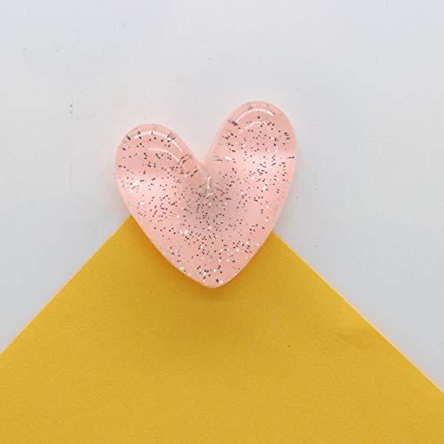 weichuang Imán para nevera de 30 mm con forma de corazón rosa brillante para niños como una niña, decoración magnética, adhesivo de papel, pasta de arte cafts imán para nevera (color: modelo B)