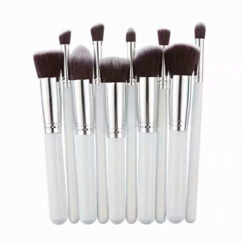 Accessorize Pinceaux de Maquillage Set de 10 Pièces Premium Coloré Fondation Mélange Blush Yeux Visage Poudre Brosse Cosmétiques