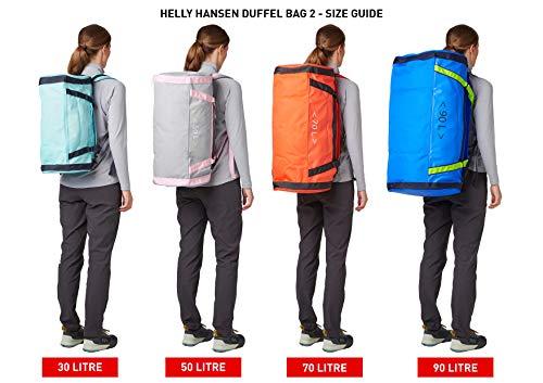Helly Hansen unisex-adult Unisex HH Duffel Bag 2 Packable Bag with Optional Backpack Straps, 990 Black, 90L (Large)