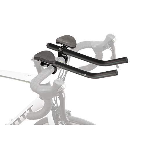 M-Wave H Aero Triathlon opzetstuk voor volwassenen, uniseks, gemaakt van lichtgewicht aluminium, bekleed, voor sturen Ø 31,8 mm (of 25,4 mm), zwart