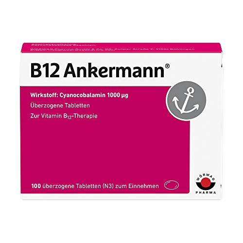 B12 Ankermann Vitamin B12: Bei Müdigkeit und Erschöpfung, Vitamin B12 Tabletten hochdosiert mit 1.000 µg, 100 Stück