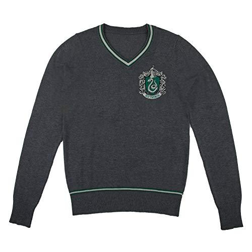 Cinereplicas - Suéter Harry Potter Hogwarts - Cuello en V - Unisex - Casa Slytherin...