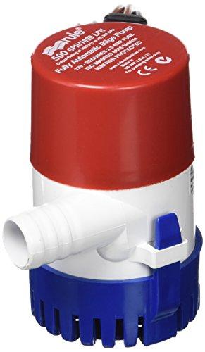 Rule 25S Submersible Bilge Pump, 500 Gallon Per Hour, 12 Volt DC, Automatic...