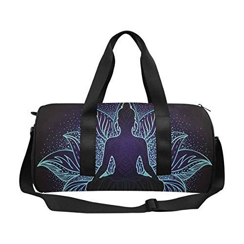 INTERESTPRINT Chakra Concept Colorful Mandala Sport Gym Bag Travel Duffel Bag