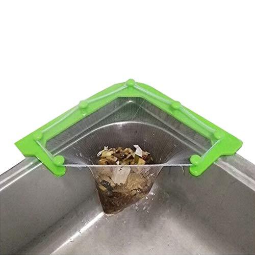 Sink Basket Kitchen Drain Filter Strainer Triangle Kitchen Sink Drain Basket Filter Bag Strainer Organizer Storage Rack  B