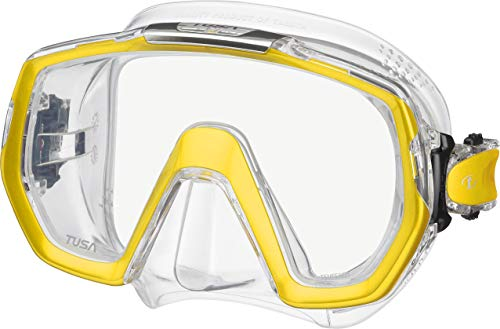 Tusa Freedom Elite Tauch schnorchel-maske, Metallic Gold