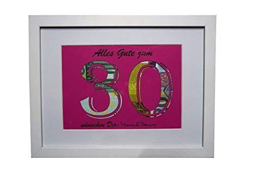 Geldgeschenk zum 30. Geburtstag (Farbe wählbar)