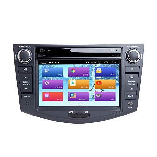 ZLTOOPAI Android 10.0 Car Radio 7 pollici Multi-touch Screen Car Stereo GPS Navigazione Car Media Player Doppia unità di testa Din per Toyota RAV4 2006-2012 SupportFull RCA Output