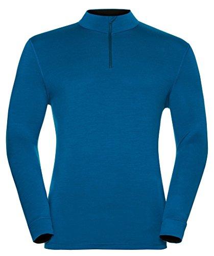 Odlo Shirt l/s Turtle Neck 1/2 Zip Natural 10 sous-vêtements Homme, Mehrfarbig, L