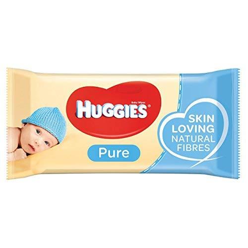 Huggies Pure Salviette Umidificate per Bambini, 1 Pacco da 56 Pezzi