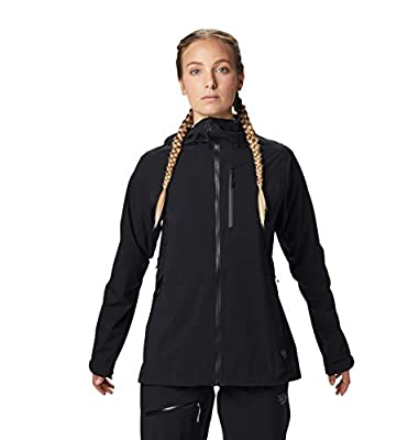 Mountain Hardwear Women's Stretch Ozonic Jacket Waterproof Breathable for Hiking, Backpacking, and Everyday - Black - Medium by Mountain Hardwear