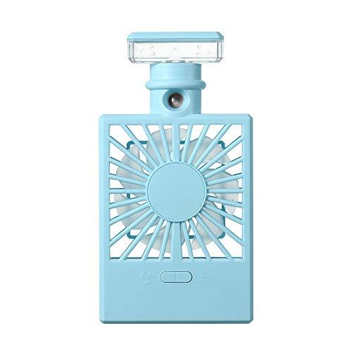 QCY AT Rotazione Automatica del Desktop Ventilatore Portatile for umidificazione Ventilatore Portatile con Carica Luce USB Raffreddamento della velocità del Vento (Color : Blue)