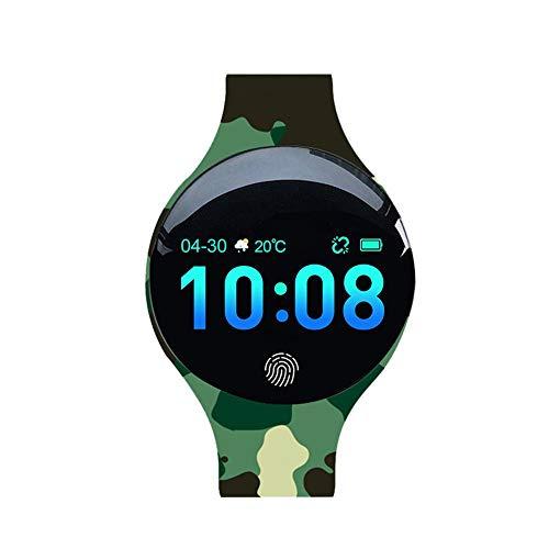 TIMAW H8 Big Color Screen Smart Watch Sports Silicone Health Gift Logo Personalizado Niños Pulsera Inteligente (Color : Army Green)