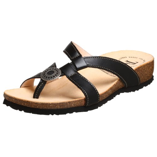 Think! Women's Julia 84333 Sandal,Black Nappa,39 EU (US Women's 8 M)