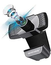 WebカメラSROSSTECウェブカメラ フルHD1080P 30FPS 200万画素90°広角 PC/USBカメラ 内蔵マイクSkye/Zoom/Windows/Mac OS/Youtube 対応(ブラック)